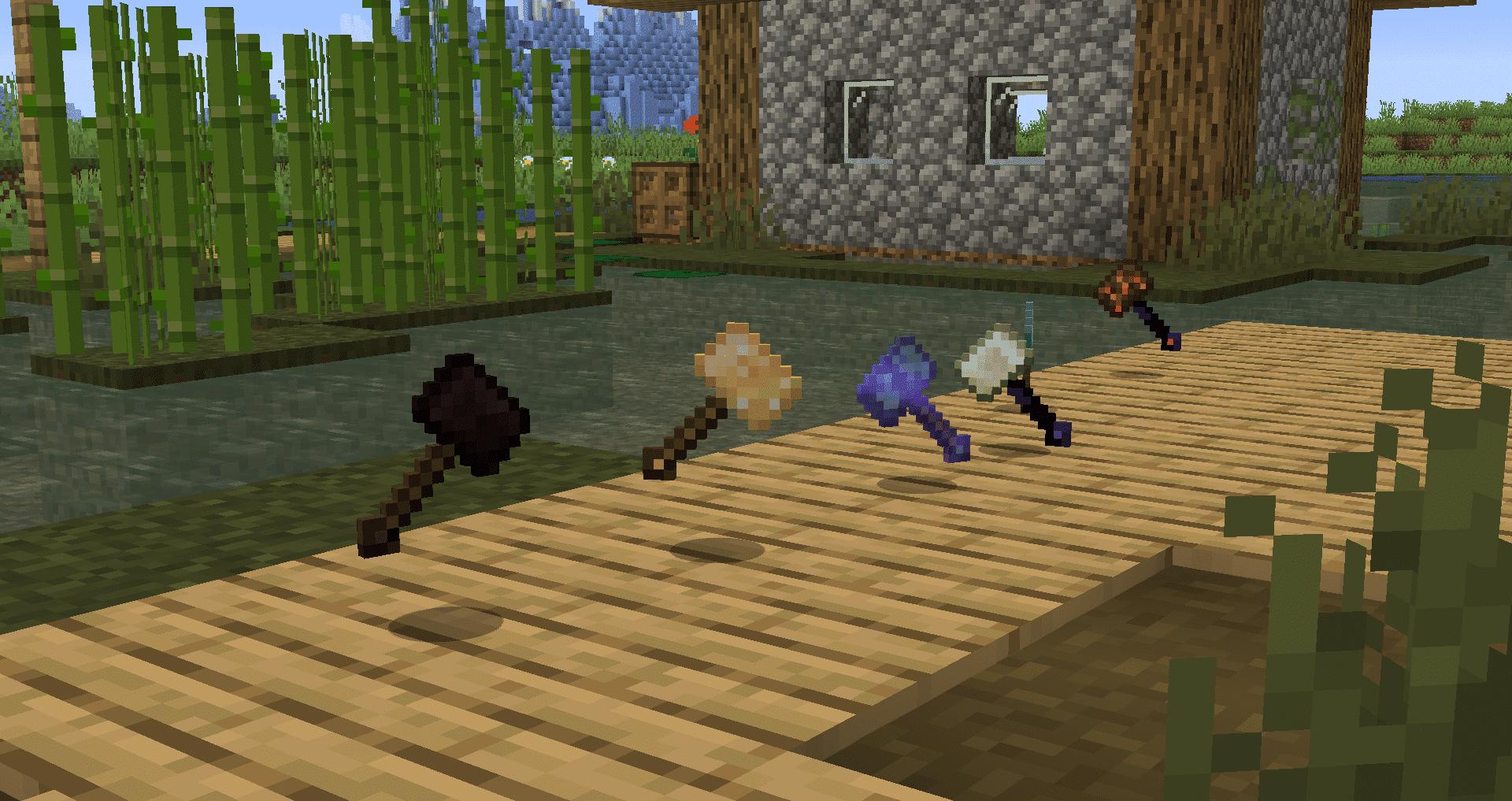 Vanilla Hammers mod para Minecraft 1.15.2 [2020]