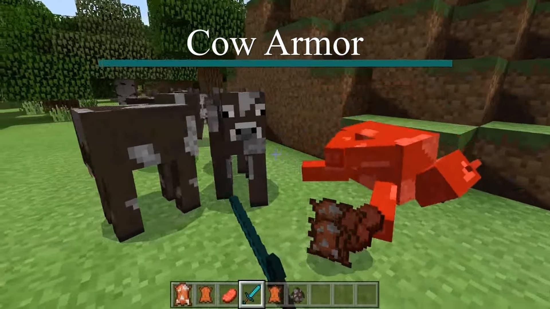 Cow Armor mod para Minecraft PE y BE