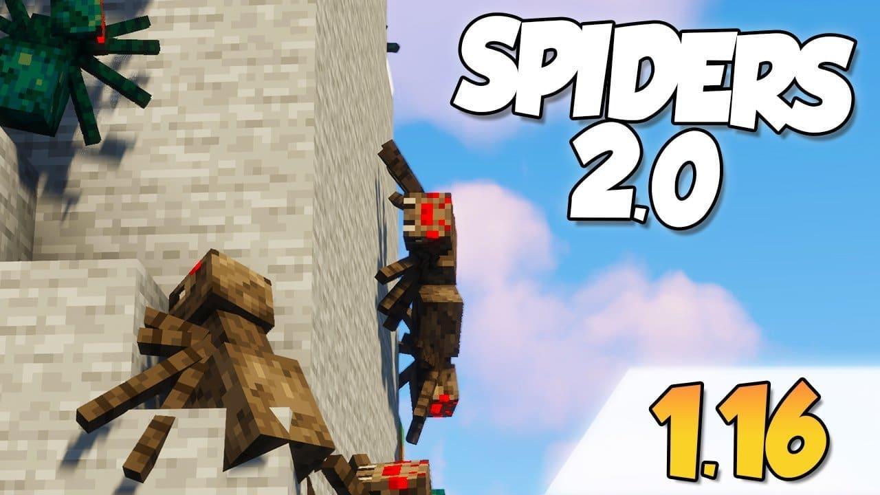 【Spiders 2.0 MOD】para Minecraft 1.16.1, 1.16.2 y 1.16.3
