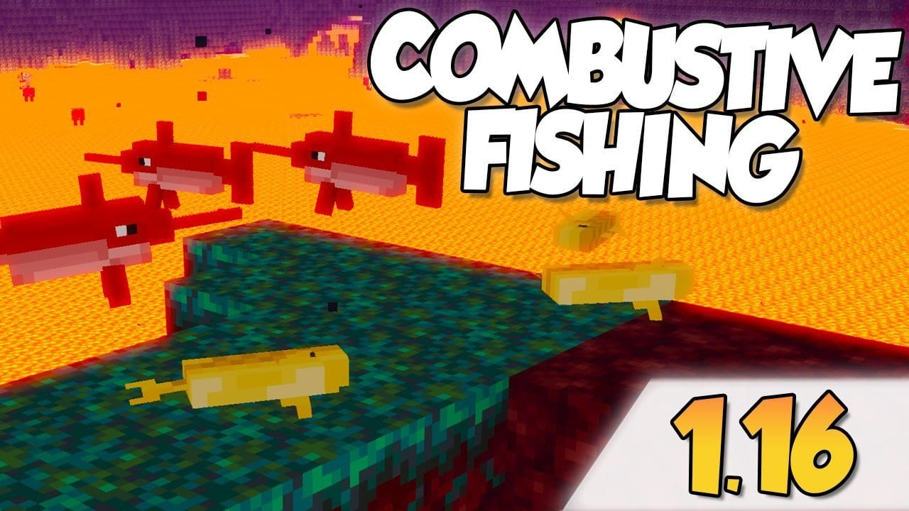 【 Combustive Fishing MOD 】para Minecraft 1.16.3