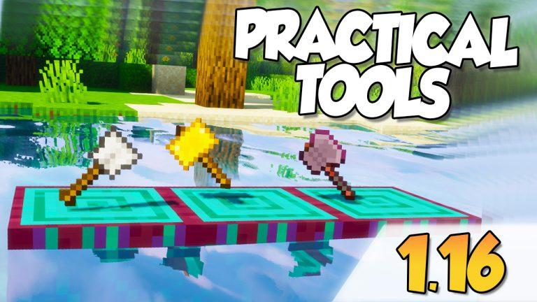Practical tools mod para Minecraft 1.16.3
