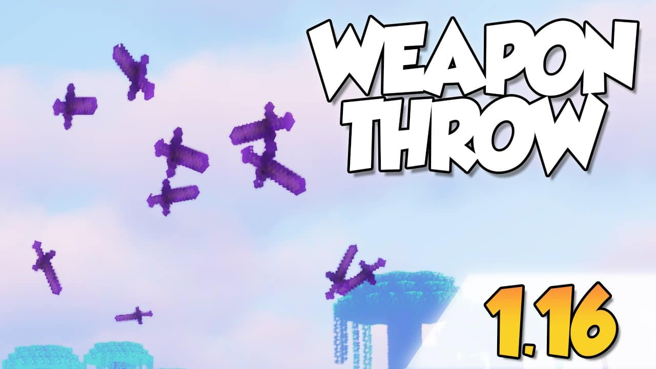 【Weapon Throw MOD】para Minecraft 1.16, 1.16.1, 1.16.2 y 1.16.3