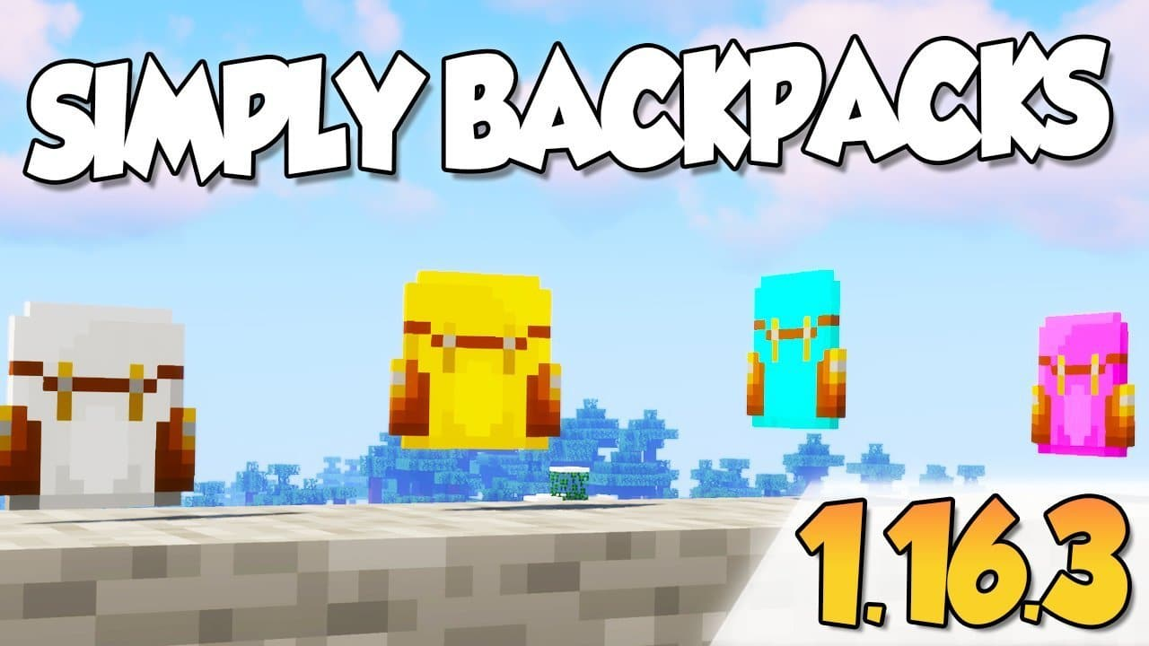 【 Simply Backpacks MOD 】para Minecraft 1.16.3