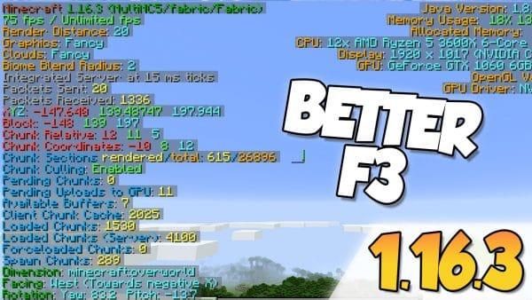 Better F3 Mod 1.16.3