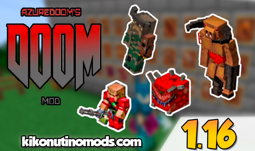 【 AzureDoom (McDoom) MOD 】para Minecraft 1.16.5, 1.16.4, 1.16.3, 1.16.2, 1.16.1…