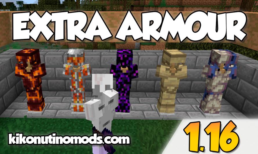 【 Extra Armor MOD 】para Minecraft 1.16.5, 1.16.4, 1.16.3, 1.16.2, 1.16.1