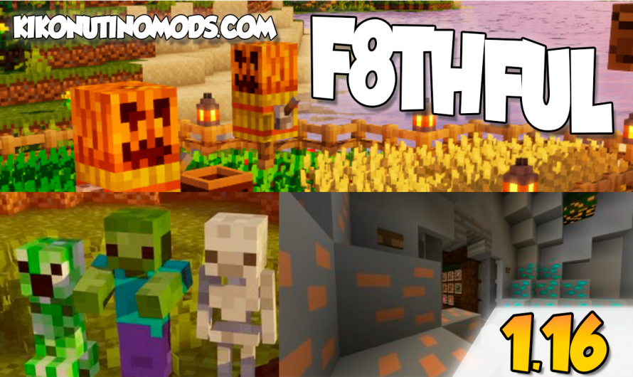 【 Descargar  F8thful 1.16 】Pack de Texturas para Minecraft 1.16.4, 1.16.3, 1.16.2, 1.16.1