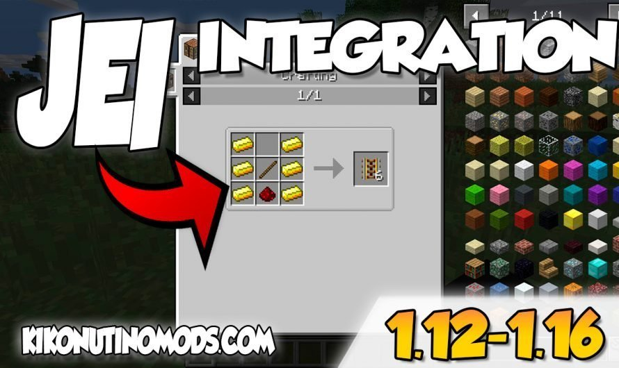 【 JEI Integration MOD 】 para Minecraft 1.16, 1.15, 1.14, 1.12