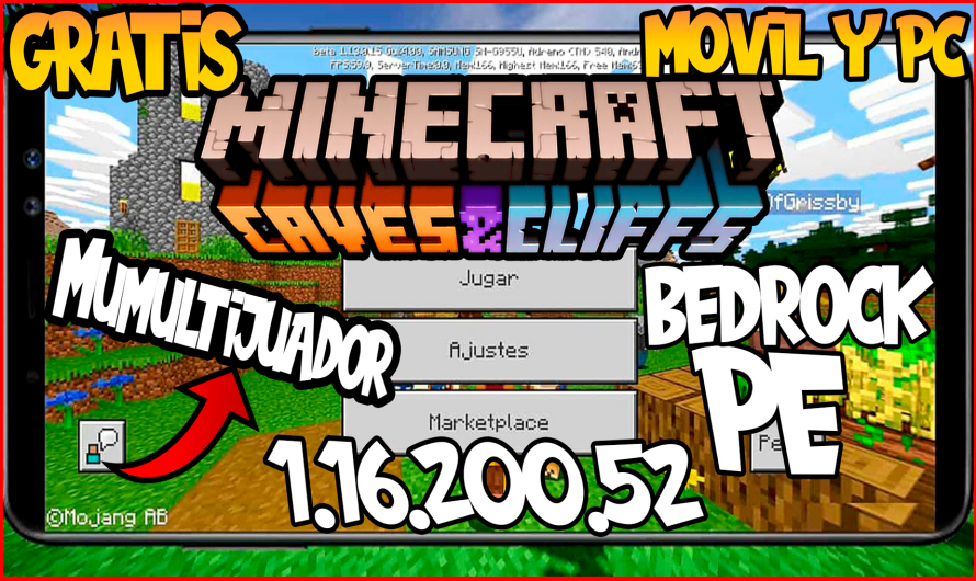 【 Como Descargar Minecraft PE/Bedrock 1.16.200.52 GRATIS 】APK Minecraft Cave and Cliff Update