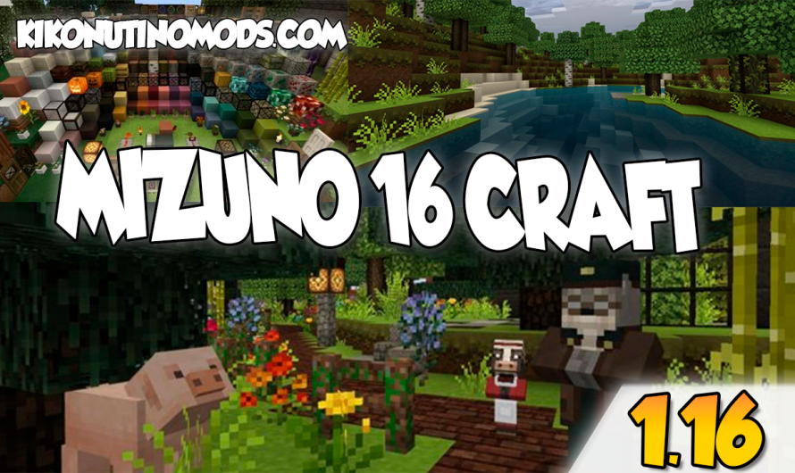 【 Descargar Mizuno 16 Craft 1.16 】Pack de Texturas para Minecraft 1.16.4, 1.16.3, 1.16.2, 1.16.1