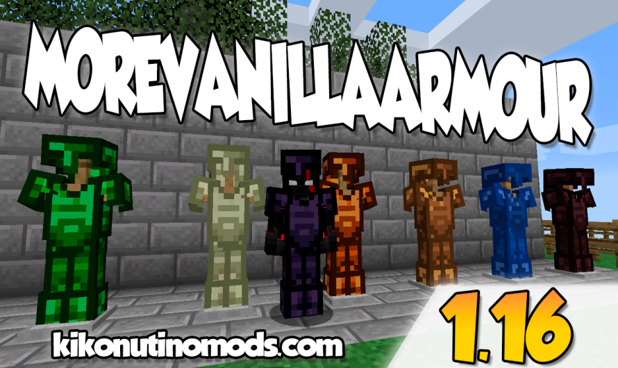 【 MoreVanillaArmor MOD 】para Minecraft 1.16.4, 1.16.3, 1.16.2, 1.16.1