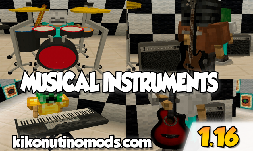 【Musical Instruments ADDON】para Minecraft PE y BE 1.16