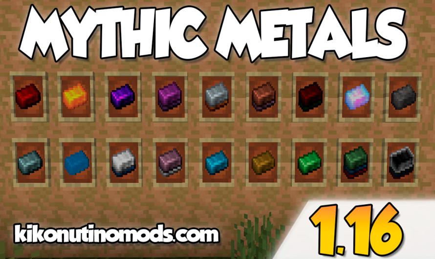 【 Mythic Metals MOD 】para Minecraft 1.16.4, 1.16.3