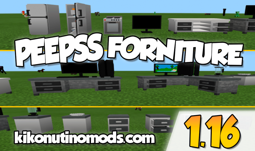 【Peepss Furniture ADDON】para Minecraft PE y BE 1.16