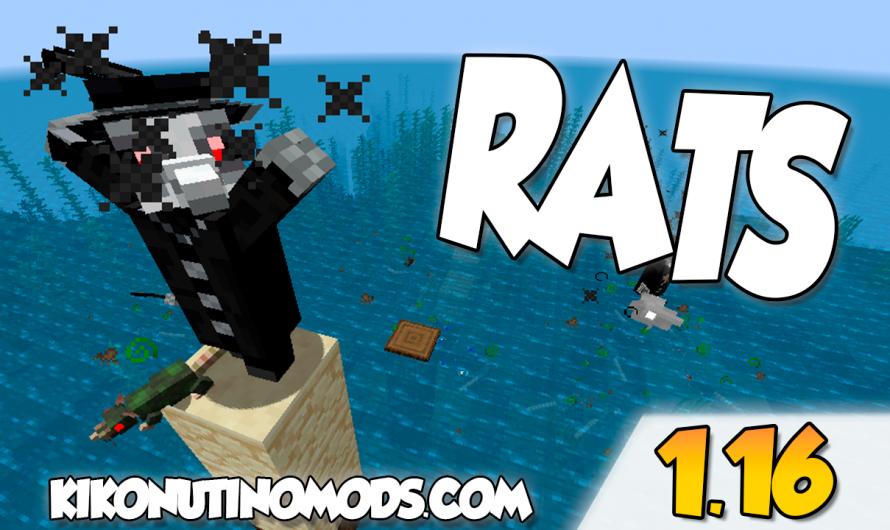 【 Rats MOD 】para Minecraft 1.16.5, 1.16.4, 1.16.3…
