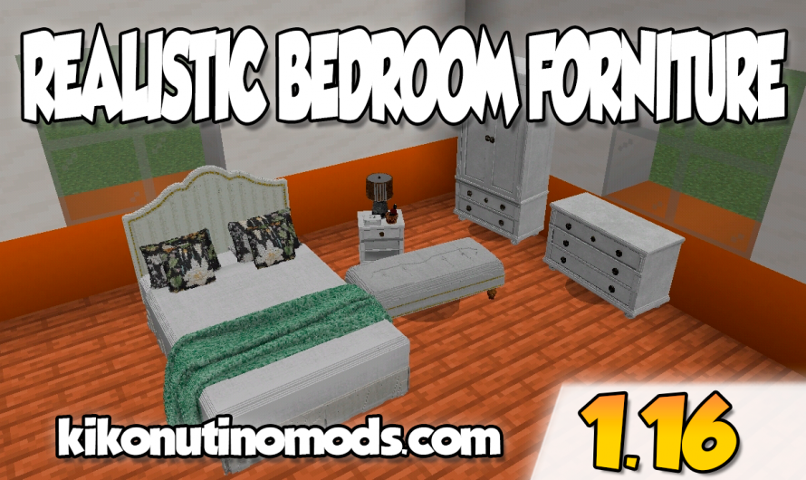 【Realistic Bed Room Forniture ADDON】para Minecraft PE y BE 1.16