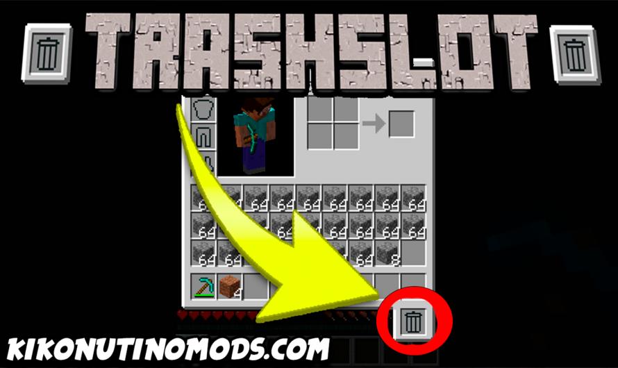【 TrashSlot MOD 】para Minecraft 1.16.3, 1.16.2, 1.16.1