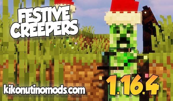 【Festive Creepers MOD】para Minecraft 1.16.4