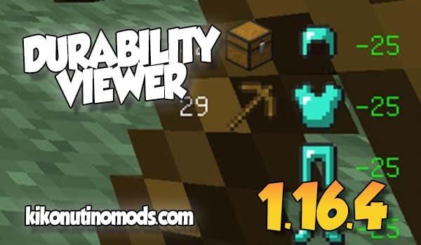【Durability Viewer MOD】para Minecraft 1.17
