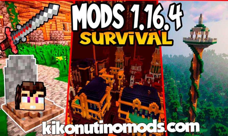 【 10 MODS QUE MEJORAN EL SURVIVAL 】para Minecraft 1.16.4