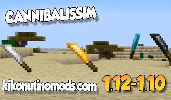 【 Cannibalism MOD 】para Minecraft 1.12.2, 1.11.2 y 1.10.2