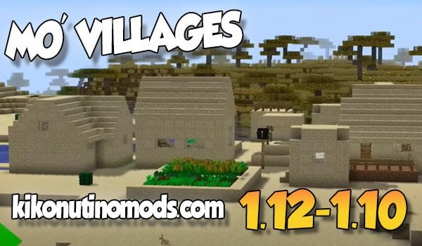 【 Mo' Villages MOD 】para Minecraft 1.12.2, 1.11.2 y 1.10.2