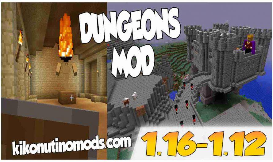 【 Dungeons MOD 】para Minecraft  1.16.4, 1.16.3, 1.16.2, 1.16.1, 1.15.2 y 1.12.2