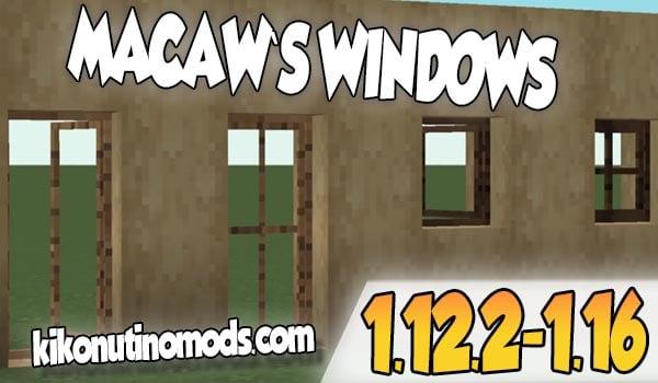 【  Macaw's Windows MOD 】para Minecraft 1.16.4, 1.16.3, 1.16.1, 1.15.2, 1.12.2…