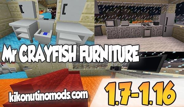 【  MrCrayfish's Furniture MOD 】para Minecraft 1.16.4, 1.16.3, 1.16.1, 1.15.2, 1.12.2…