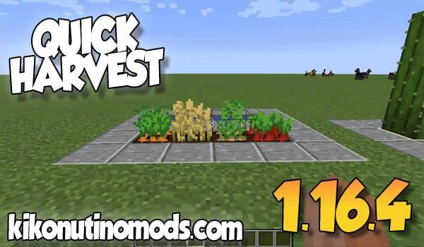 【 Quick Harvest MOD 】para Minecraft 1.16.4 y 1.16.3