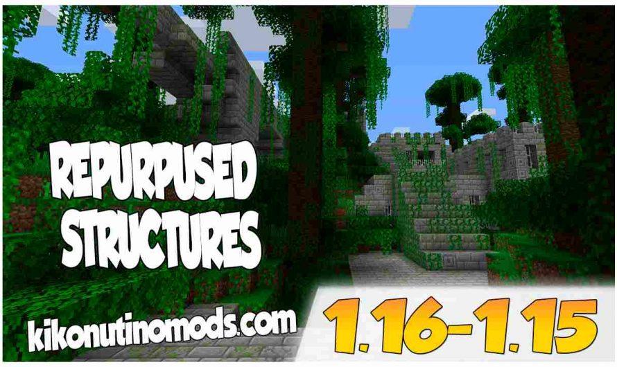 【 Repurposed Structures MOD 】para Minecraft 1.16.5, 1.16.4, 1.16.3, 1.16.2, 1.16.1 y 1.15.2