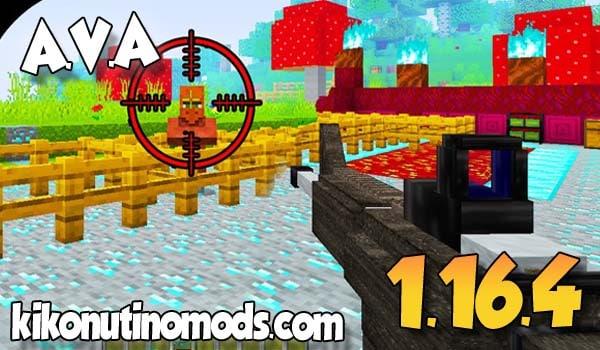 【 A.V.A Guns MOD 】para Minecraft 1.16.4 y 1.16.3