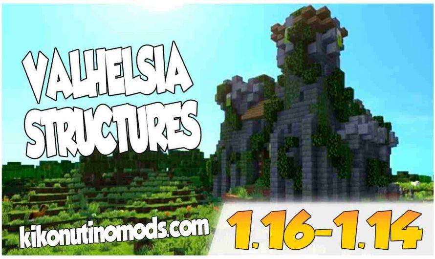 【 Valhelsia Structures MOD 】para Minecraft  1.16.4, 1.16.3, 1.16.1, 1.15.2 y 1.14.4