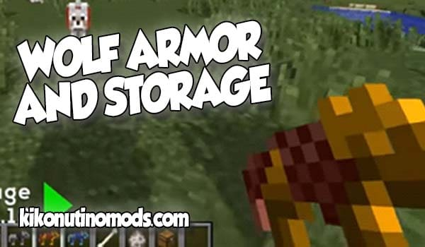 【 Wolf Armor And Storage MOD 】para Minecraft 1.12.2