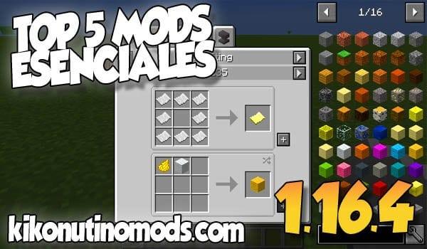 【5 MODS ESENCIALES】Para Minecraft 1.16.4 y 1.16.5