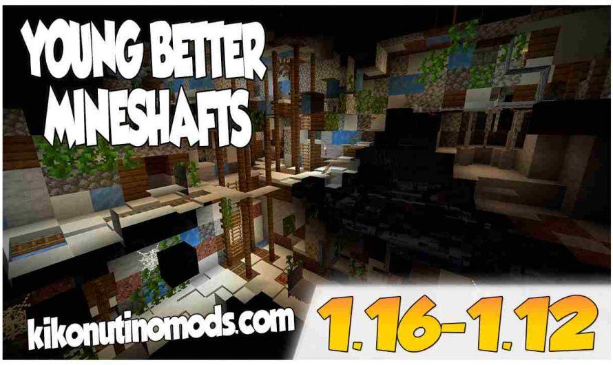 【 YUNG's Better Mineshafts MOD 】para Minecraft  1.16.4, 1.16.3, 1.16.2, 1.16.1 y 1.15.2