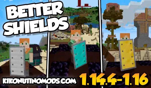 【Better Shields MOD】 para Minecraft 1.16.5, 1.16.4, 1.16.3, 1.16.2 y 1.14.4