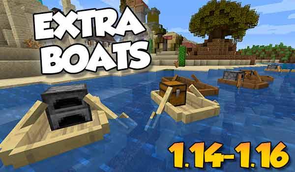 【 Extra Boats MOD 】 para Minecraft 1.16.5, 1.16.4, 1.16.3…