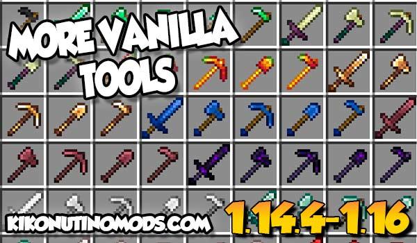 【MoreVanillaTools MOD】 para Minecraft 1.16.5, 1.16.4, 1.14.4…