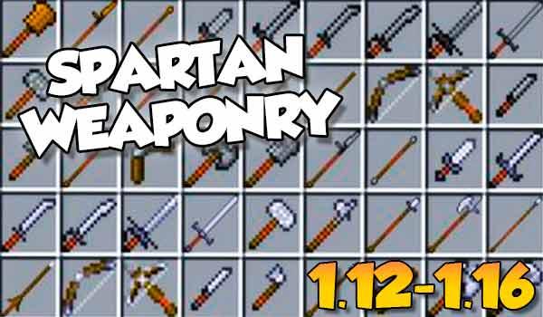 【 Spartan Weaponry MOD 】para Minecraft 1.16.5, 1.16.4, 1.12.2…