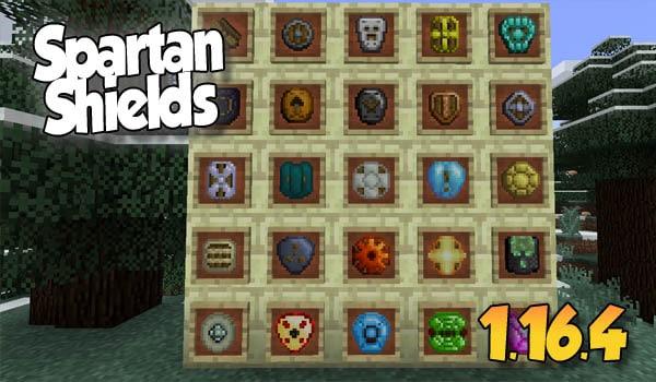 【Spartan Shields MOD】 para Minecraft 1.16.5 – 1.12.2