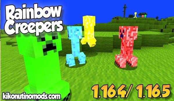 【Rainbow Creepers MOD】 para Minecraft 1.16.5 y 1.16.4