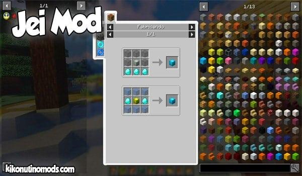 Just Enough Items JEI MOD para Minecraft 1.16.5, 1.15.2, 1.14.4 y 1.12.2