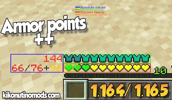 【Armor Points ++ MOD】 para Minecraft 1.16.5 y 1.16.4