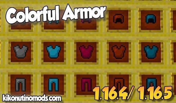 【Colorful Armor MOD】 para Minecraft 1.16.5 y 1.16.4