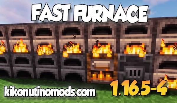 FastFurnace MOD para Minecraft 1.16.5 y 1.16.4