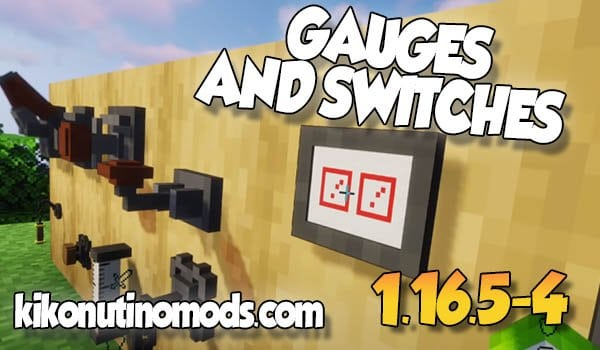 Redstone Gauges and Switches MOD para Minecraft 1.16.5 y 1.16.4