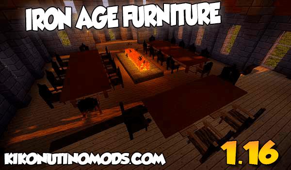 【Iron Age Furniture  MOD】 para Minecraft 1.16.5 y 1.16.4