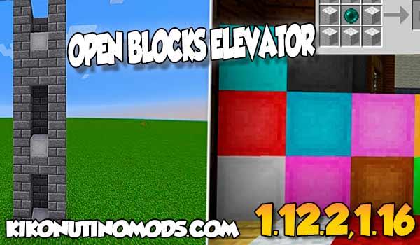 【OpenBlocks Elevator MOD】 para Minecraft 1.16.5, 1.16.4, 1.12.2