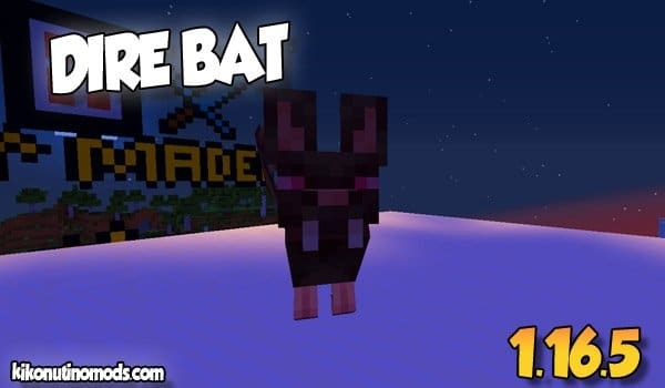 【Dire bats MOD】 para Minecraft 1.16.5 y 1.16.4